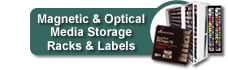 Magnetic & Optical Media Storage Racks & Labels